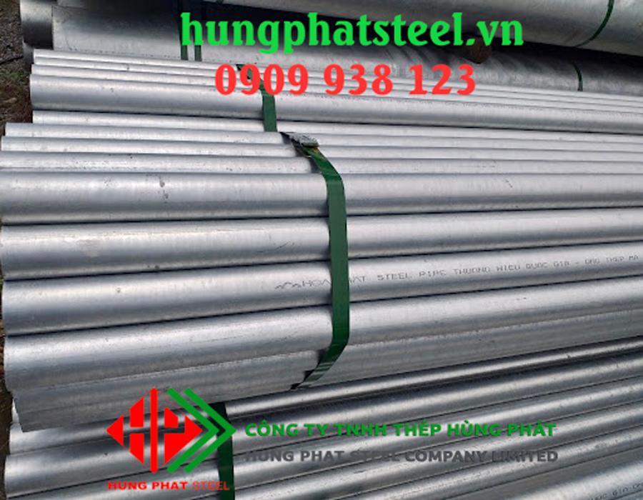 Thép ống đúc mạ kẽm phi 48 Độ Dày từ 1.65mm đến 10.01mm